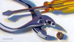 Pliers and Screwdriver by Leigh-Anne Eagerton, painting, via Flickr