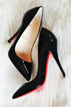 classic black patent leather christian louboutins.