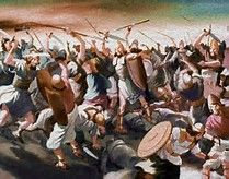Judges 11:28,32,33 'But the king of the Ammonites would not listen to Jephthah's message' so 'Jephthah crossed over to the Ammonites to fight against them, and the LORD handed them over to him' . . and 'he defeated 20 of their cities with great slaughter'