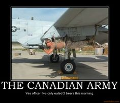 demotivational poster THE CANADIAN ARMY