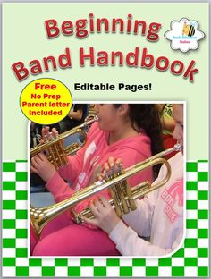 Click now to instantly download your beginning Band Handbook. Loaded with important band information and serves as a valuable tool for students, teachers, and parents to communicate about student requirements instrumental music.