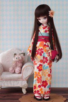 【DOLCHU】DDH-01カスタム(SW肌)ヘッド+レトロ花浴衣セット