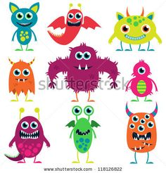 cute halloween monster illustration - Google Search