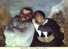 Crispin Et Scapin 1860 Honore Daumier French) Musee dOrsay Paris France Canvas Art - Honore Daumier x Musée D'orsay Paris, Paris France, Louvre Paris, Honore Daumier, Art Occidental, Art Database, Oil Painting Reproductions, Manet, Wood Engraving