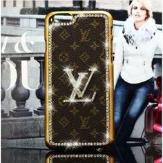 étui/housse iPhone 6S Louis Vuitton,Housse coque arrière Bling Strass pour iPhone 6S