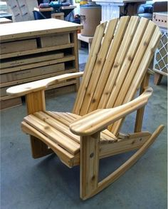 Cedar Adirondack Rocking Chair Handmade by Ozark Mountain Furniture #Handmade