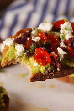 Greek Avocado Toast  - Delish.com