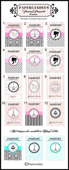 Custom Boarding Pass Birthday Invitation Personalized Paris - airline ticket invitation
