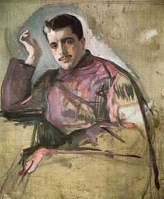 Portrait of Sergei Diaghilev by Valentin Serov (1904)