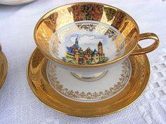 Vintage Sammeltassen - 2x Moccatasse Espressotasse goldig shabby chic - ein Designerstück von artdecoundso bei DaWanda