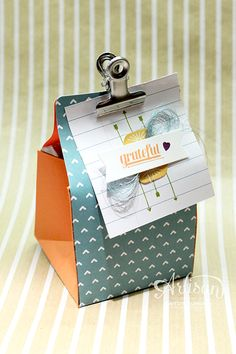 Create with Kaitlyn: Gratitude for Days Boxes - Stampin' Up! Artisan Blog Hop | Use the Gratitude for Days Simply Created Kit to make these cute little boxes!