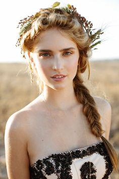 curly hair crown braid - Google Search