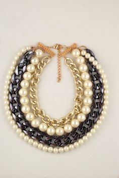pearls necklace choker trend 2014