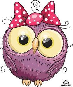 Owl Clip Art, Owl Art, Bird Art, Owl Cartoon, Cute Cartoon, Oblyvian Girls, Owl Pictures, Art Drawings For Kids, Christmas Owls