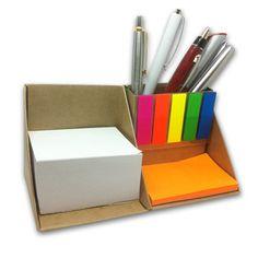 Канцелярский набор с блоком для заметок типа Post-it и закладками  РЕТ | Эко сувениры | Eco friendly | Eco promotion | Eco corporate gifts | Eco notebook | Eco office | Eco sticky notes pad