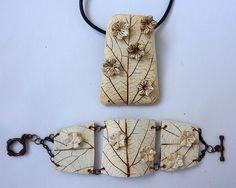 Organic style, polymer clay jewelry