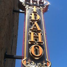The historic 805 Idaho Builidng sign in Downtown Boise.