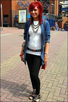 Indie redhead, teen, rock, fashion