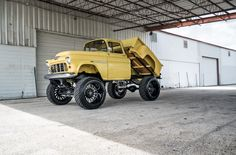 55 Chevy #Apache. Repin if you #love the build.