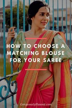 An issue that women who love to wear sarees face is matching their blouse with a saree! If you are in a similar situation, then fret not, check out this guide about how to choose a matching blouse for your saree. Golden Saree, Golden Blouse, Latest Saree Trends, Designer Blouses Online, Checks Saree, Saree Blouse Neck Designs, Indian Designer Wear, Blouse Styles, Indian Dresses