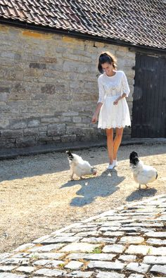 The Londoner: Broderie Anglaise Rosie Londoner, Raising Backyard Chickens, French Girls, Pretty Birds, Cutwork, Summer Looks, Style Me, Fashion Beauty, Fashion Photography