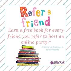 Refer a friend Graphics Game, Space Books, Friend Book, Facebook Party, Book Images, Host A Party, Book Nooks, Book Nerd, Free Books
