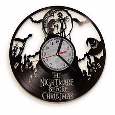 The Nightmare Before Christmas Vinyl Record Wall Clock. Jack Skellington and Sally Home Decor. Perfect gift for fans of Nightmare Before Christmas Movie. Nightmare Before Christmas Clock, Christmas Vinyl, Cool Clocks, Record Wall, Art Decor, Home Decor, Vinyl Records, Retro Vintage, Cool Stuff