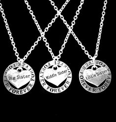 3 Necklaces Forever Big Sister Middle Sister by HeavenlyCharmed