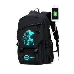 0e4a0b6bc9 One Piece Anime Luminous Backpack Laptop Backpack with USB Headphone – MONT  SWISS Usb Headphones