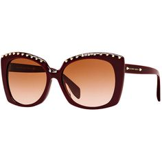 Alexander Mcqueen Amq4262/s 58 Burgundy Rectangle Sunglasses ($305) ❤ liked on Polyvore featuring accessories, eyewear, sunglasses, rectangle sunglasses, alexander mcqueen, rectangular sunglasses, alexander mcqueen eyewear and rectangular glasses