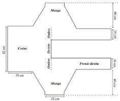 Resultado de imagem para poncho de trico 2 retangulos