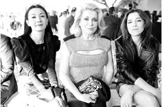 Maggie Cheung, Catherine Deneuve et Charlotte Gainsbourg