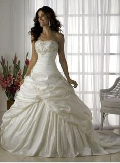I loved my wedding dress, but this gown would have given my dress a run for its money, and a hard decision for me!