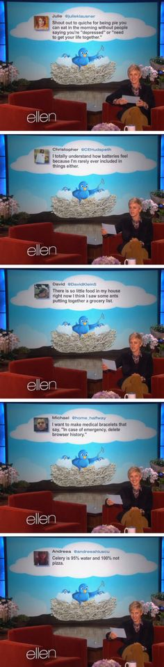 Ellen's favorite tweets of the week.