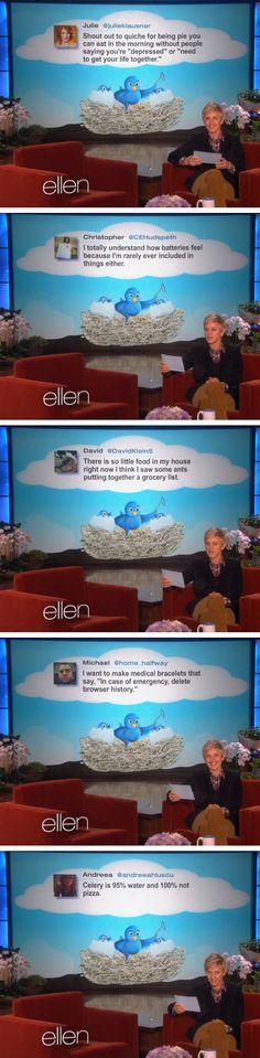 Ellen's favorite tweets of the week…