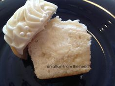White Chocolate Truffle Center Cupcakes with White Chocolate Cream Cheese Frosting | An Affair from the Heart