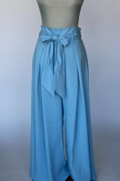 Blue Belle Paper Bag Princess Pants Salt And Light, Wide Pants, Spring Collection, Workout Pants, Baby Blue, High Waisted Skirt, Classy, Legs, Princess