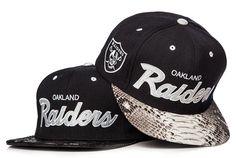 Oakland Raiders 'Python' Strapback x Just Don