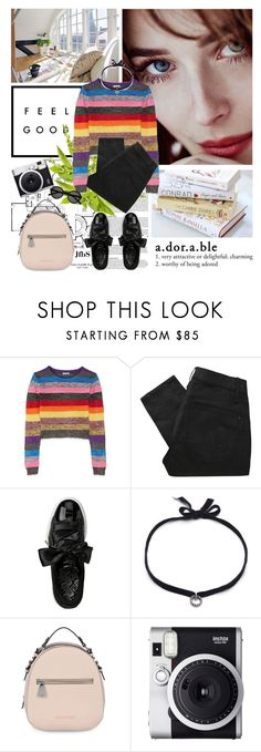 """""""#428 - """"March days"""""""" by jfbs ❤ liked on Polyvore featuring Made of Me, Miu Miu, Marc by Marc Jacobs, Puma, DANNIJO, Armani Jeans, Fuji and Yves Saint Laurent"""
