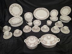For Sale Now at Our Ebay Store for Only $399.99!  MINT 74-pc Set Royal Doulton Kimberley China TC1106 w' 2 Casserole Oven Dishes