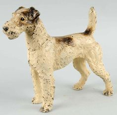 LOT #518 - Cast Iron Oversized Fox Terrier Doorstop.