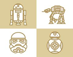 #StarWars #Line #Icon Project by Selin Ozgur