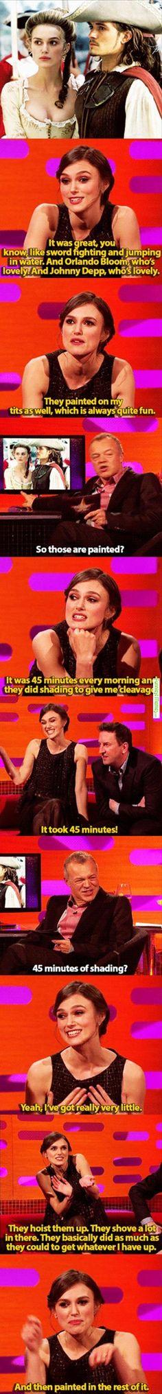 Funny Meme - [Poor Keira Knightley]