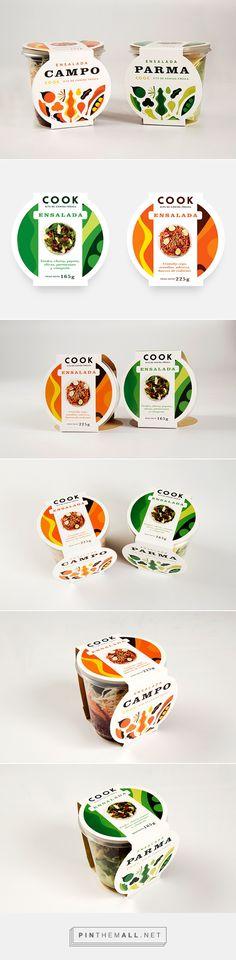 COOK ENSALADAS food packaging design