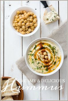 CREAMY AND DELICIOUS HUMMUS- Don't buy hummus when it's so easy to make and tastes so much better!