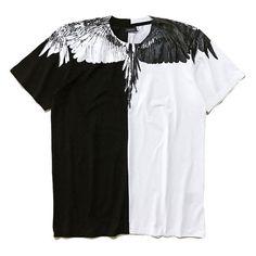 32c98c6b13f 2017SS MB Marcelo Burlon T-Shirt New Summer Streetwear Patchwork Cotton  Tshirts Brand Clothing Men