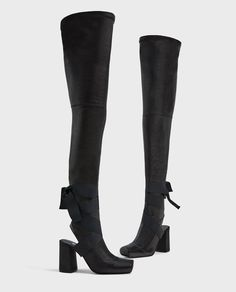 ZARA - WOMAN - OVER-THE-KNEE HIGH HEEL LEATHER BOOTS
