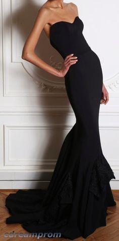 black dress prom dress