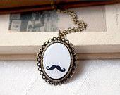 Curly Mustache necklace - Geek jewelry - Moustache (N056) @Nancy Carnahan