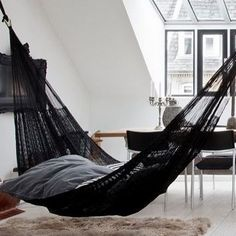 23 Interior Designs with Indoor Hammocks Interiorforlife.com Inside Hammock